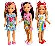 Surtido de muñecas Un día de pañuelos trendy, 3 modelos diferentes nancy. Nancy