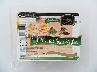 Valdy Paté loncheado a las finas hierbas 100 g