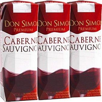 Don Simón Selección vino tinto cabernet sauvignon envases 75 cl pack 3x25 cl