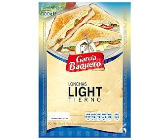 García Baquero Queso tierno light en lonchas 100 gramos