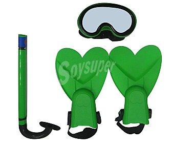 EURASPA Set de buceo infantil compuesto por aletas, mascara y tubo 1 unidad