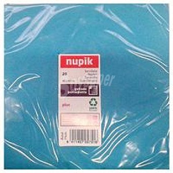 Nupik Servilletas azul 40x40 Paquete 20 unid