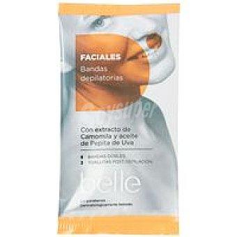 Belle Bandas faciales cera fría Paquete 16 unidades