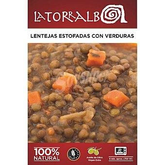 La Torralba Lentejas estofadas con verduras 6 minutos aprox  estuche 250 g