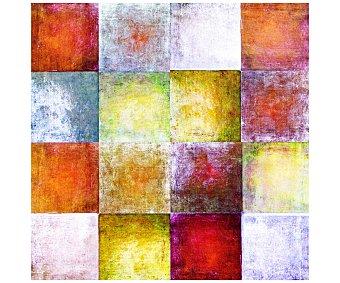 IMAGINE Cuadro con un dibujo abstracto en tonos rojos, amarillos y azules y dimensiones de 50x50 centímetros 1 unidad