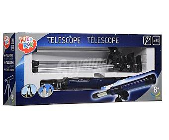 Rik&Rok Auchan Telescopio astronómico con trípode y objetivo de 30 milímetros 1 unidad