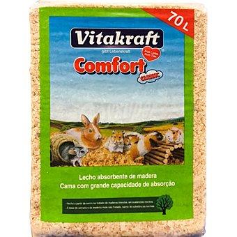 VITAKRAFT Comfort Classic lecho absorbente de madera para roedores paquete 70 l Paquete 70 l