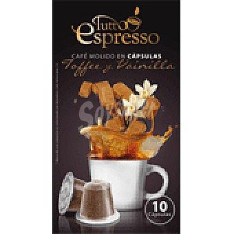 Tutto Espresso Cápsulas de Café con Toffe y Vainilla 10 Cápsulas