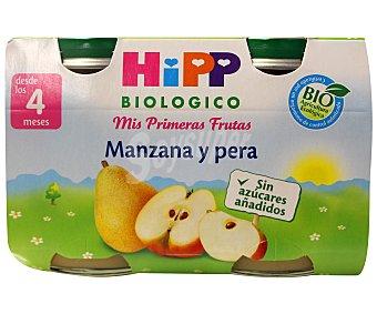 HiPP Biológico Tarrito de pera y manzana ecológico sin gluten 125 gramos