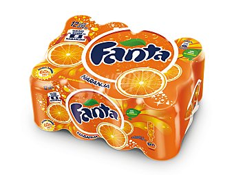 Fanta Bebida refrescante de naranja Pack de 12 latas de 33 cl