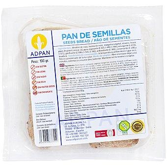 Adpan pan de semillas sin gluten sin leche sin huevo 2 unidades envase 100 g 2 unidades