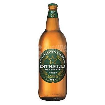 Estrella Levante Cerveza rubia nacional Botella de 1 l