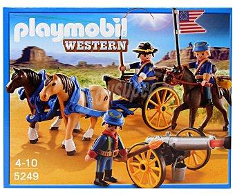 Playmobil Playset Western Soldados Americanos con Cañón, Modelos 5249 1 Unidad