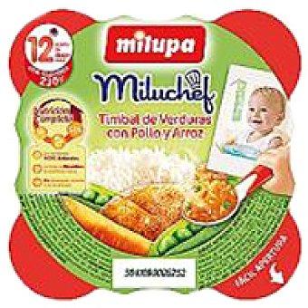 Milupa Miluchef de pollo-verduras-arroz Plato 230 g