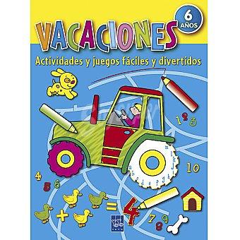 Cuaderno de Vacaciones: Actividades y juegos fáciles y divertidos +6 años