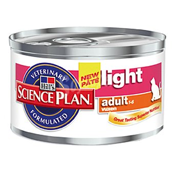 HILL'S SCIENCE PLAN ADULT LIGHT Alimento para gato con pollo bajo en grasa Lata 85 g