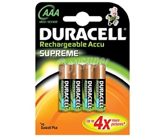DURACELL Pilas recargables AAA 1000 mah 4u