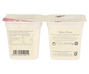 El Pastoret Requesón 100% natural de elaboración tradicional Pack de 2 unidades de 125 gramos