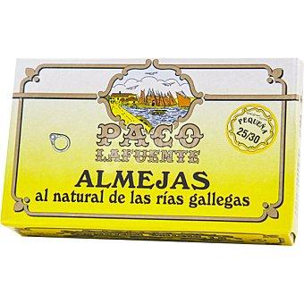 Paco lafuente Almejas de las rías gallegas al natural lata 65 g neto escurrido 25-30 piezas lata 65 g