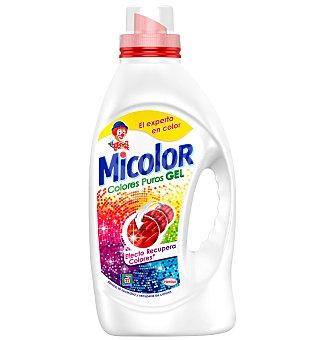 Micolor Detergente máquina líquido gel colores puros botella 22 dosis