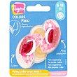 Colors chupetes fisiológicos erizos rosa con tetina de látex forma ergonómica 6-18 meses  blister 2 unidades Tigex