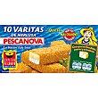 Varitas de merluza rebozadas con queso estuche 300 g 10 unidades Pescanova