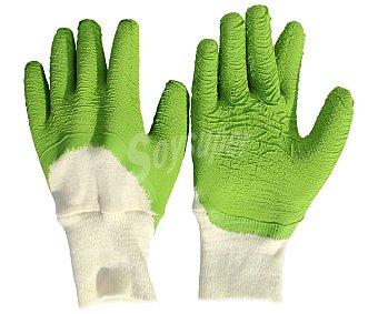 Producto Alcampo Par de guantes de jardín talla 9, con composición de polyester y algodón, protección hasta medio dorso alcampo