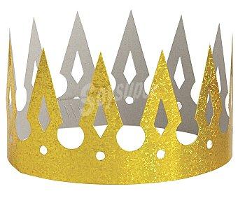 Party Corona holográfica brillante color dorado party