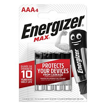 Energizer Pila Max +power alcalina AAA Blister 4 unidades + 2 gratis