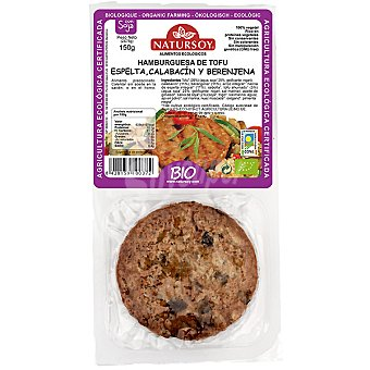 Natursoy Hamburguesa de tofu con espelta calabacín y berenjena pack 2 unidades estuche 150 g Pack 2 unidades (150 g)