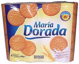 HACENDADO GALLETA MARIA DORADA 4 TUBOS - 800 g