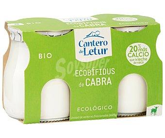 El Cantero de Letur Yogur Ecobífidus de cabra, Ecológico,, 2x125 gramos 2x125g