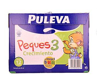 PULEVA Peques Preparado lácteo infantil crecimiento a partir 1 año Puleva Peques 3 Brick pack 6 x 1 l - 6 l