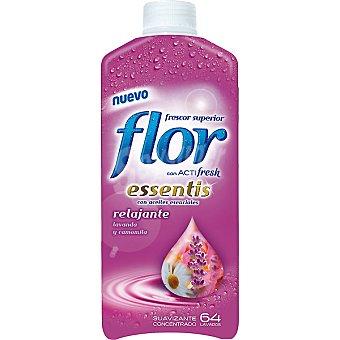 Flor Suavizante concentrado Frescor Relajante con aceites esenciales lavanda y camomila  botella 64 dosis