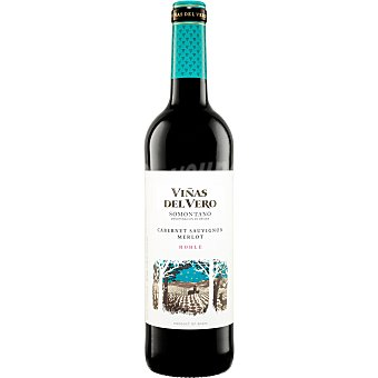 Viñas del Vero Vino tinto roble con denominación de origen Somontano Botella de 75 cl