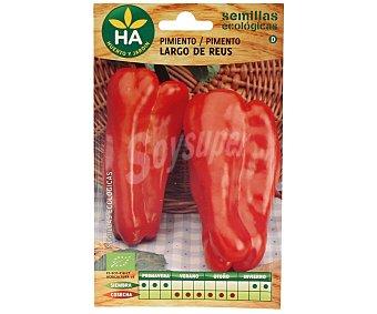 HA-Huerto y Jardín Semillas ecológicas para sembrar pimientos de la variedad largo de Reus 0.2 gramos