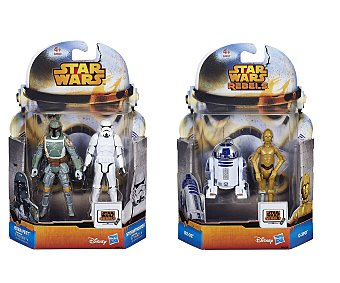Star Wars Pack de 2 figuras mini de Star Wars Rebel, serie Missions 1 unidad