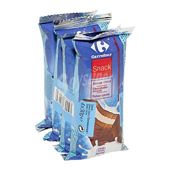 Carrefour Snack choco/leche Pack 4x30 g