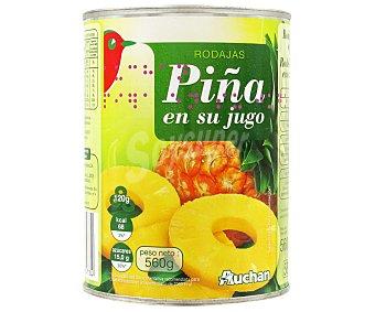 Auchan Piña en su jugo 340 gr