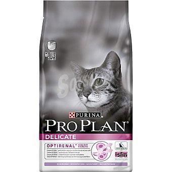 Pro Plan Purina Alimento para gato con digestión sensible para favorecer la salud renal con pavo Optirenal Delicate Bolsa 1,5 kg