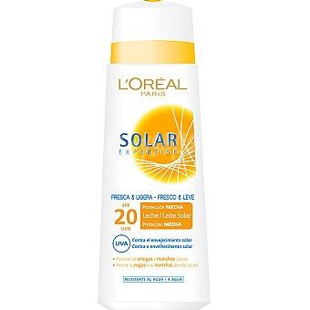 Solar Expertise L'Oréal Paris leche solar fresca & ligera FP-20 protege las arrugas y manchas solares resistente al agua  frasco 250 ml
