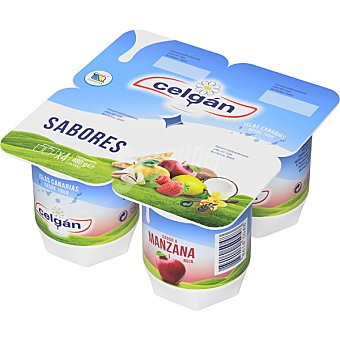 Celgán Yogur sabor manzana  Pack 4 x 125 g