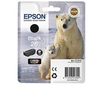 EPSON Oso Polar Cartucho Negro 26-Compatible con impresoras: XP-600 / XP-605 / XP-700 / XP-800