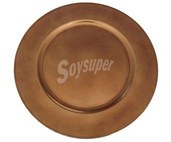 Actuel Bajo plato de cartón redondo, de 33 centímetros y de color marrón ACTUEL 33cm marrón
