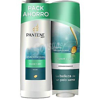 Pantene Pro-v Champú Suave & Liso + acondicionador frasco 250 ml pack ahorro Frasco 300 ml