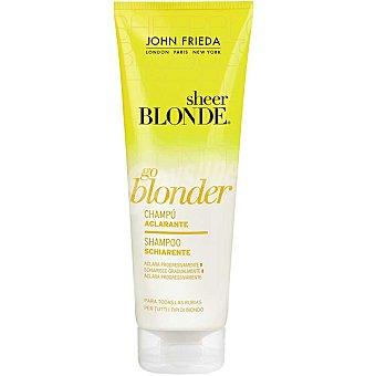 JOHN FRIEDA Sheer Blonde Go Blonder Champú aclarante pelo rubio Frasco 250 ml