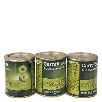 Carrefour Aceituna verde en rodajas 150 g