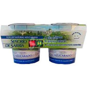 Señorio de Sarria Yogur natural azucarado Pack 2x125 g