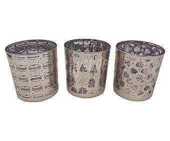 Actuel Pack de 3 velas navideñas en vaso de vidrio, actuel. Pack de 3