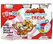 Petit suisse para beber de fresa pack de 6 uds de 100 gr Rik&Rok Auchan